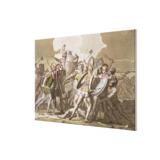 Lucha de los Griegos y de los Trojan sobre el cuer Impresiones De Lienzo