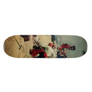Lucha de los piratas sobre el tesoro skate board