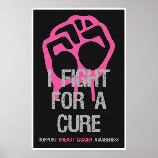 Lucha de los posters de la conciencia del cáncer d