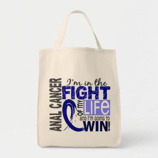 Lucha de mi cáncer anal de la vida bolsa tela para la compra