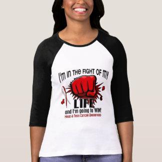 Lucha de mi cáncer de cabeza y cuello de la vida 2 camisetas