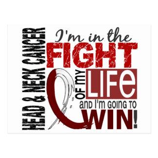 Lucha de mi cáncer de cabeza y cuello de la vida tarjetas postales