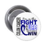 Lucha de mi cáncer de colon de la vida pin