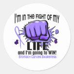 Lucha de mi cáncer de estómago de la vida 2 pegatina redonda