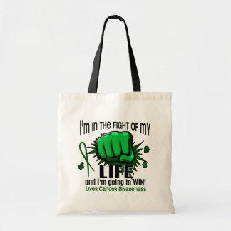 Lucha de mi cáncer de hígado de la vida 2 bolsa tela barata