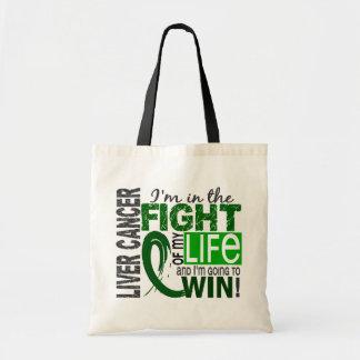 Lucha de mi cáncer de hígado de la vida bolsa tela barata