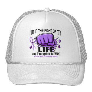 Lucha de mi cáncer de la vida 2 gorras