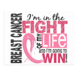 Lucha de mi cáncer de pecho de la vida tarjetas postales