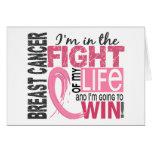 Lucha de mi cáncer de pecho de la vida tarjeton