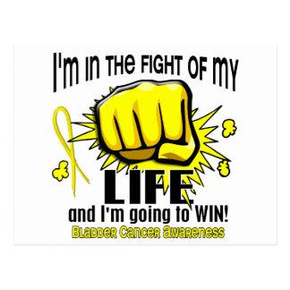 Lucha de mi cáncer de vejiga de la vida 2 tarjetas postales
