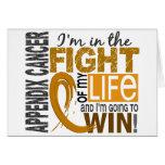 Lucha de mi cáncer del apéndice de la vida tarjeta