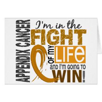 Lucha de mi cáncer del apéndice de la vida tarjeta de felicitación