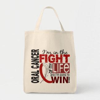 Lucha de mi cáncer oral de la vida bolsa tela para la compra