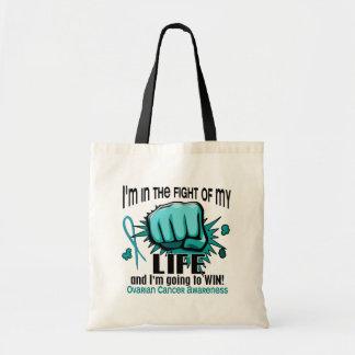 Lucha de mi cáncer ovárico de la vida 2 bolsa tela barata