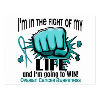 Lucha de mi cáncer ovárico de la vida 2 tarjeta postal