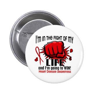 Lucha de mi enfermedad cardíaca de la vida 2 pin redondo de 2 pulgadas