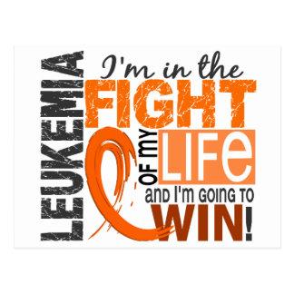 Lucha de mi leucemia de la vida postales
