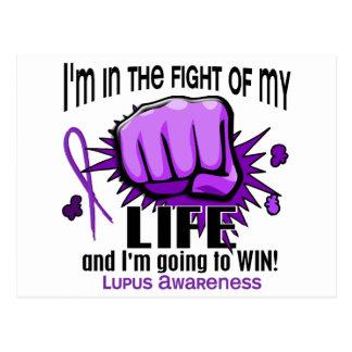 Lucha de mi lupus de la vida 2 postal