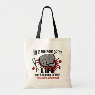 Lucha de mi melanoma de la vida 2 bolsa lienzo