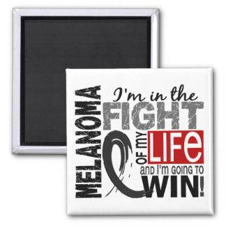 Lucha de mi melanoma de la vida imán cuadrado