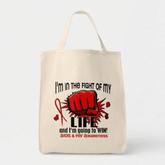 Lucha de mi SIDA de la vida 2 Bolsa Tela Para La Compra
