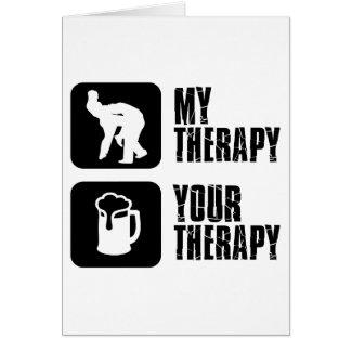 lucha de mis diseños de la terapia tarjeta de felicitación