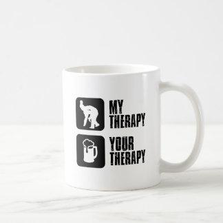 lucha de mis diseños de la terapia taza básica blanca