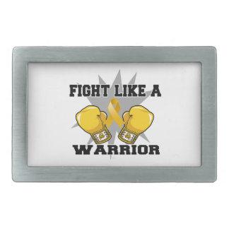 Lucha de Neuroblastoma como un guerrero Hebilla Cinturón Rectangular
