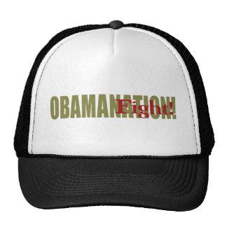 ¡Lucha de Obamanation! Gorras De Camionero