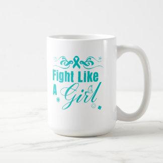 Lucha de PKD como un chica adornado Tazas De Café
