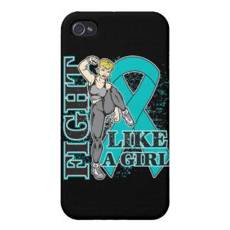 Lucha de PKD como un extremo de Kickin del chica iPhone 4/4S Carcasas