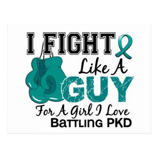 Lucha de PKD como un individuo 15 Postal