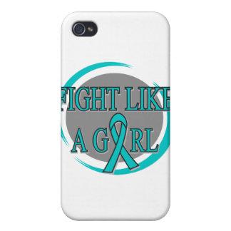 Lucha de PKD como una circular del chica iPhone 4 Protector