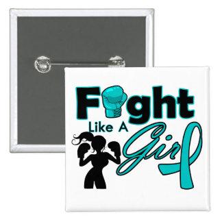 Lucha de PKD como una silueta del chica Pins