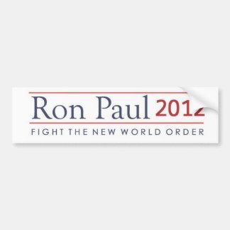 Lucha de Ron Paul 2012 el nuevo orden mundial Pegatina De Parachoque