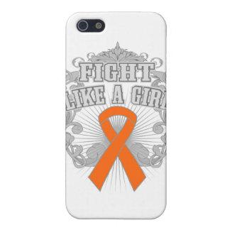 Lucha de RSD como un chica Fleurish iPhone 5 Protectores