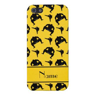 Lucha de sumo amarilla conocida personalizada iPhone 5 carcasas
