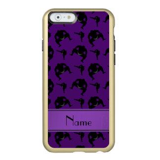 Lucha de sumo púrpura conocida personalizada funda para iPhone 6 plus incipio feather shine