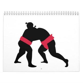 Lucha de sumo calendario de pared