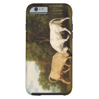 Lucha de toros, 1786 (aceite en el panel) funda de iPhone 6 tough