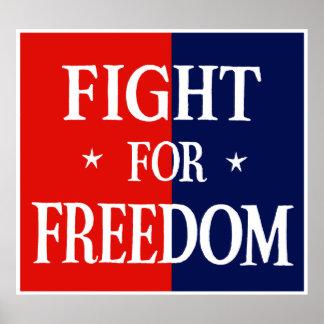 Lucha de WWII para la libertad Poster