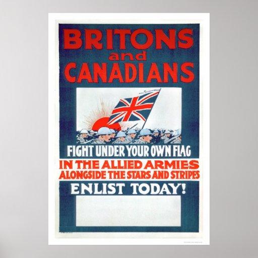 Lucha debajo de su propia bandera (US02106) Posters