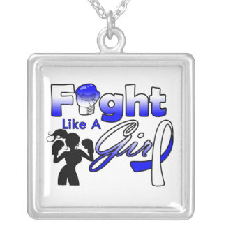 Lucha del ALS como una silueta del chica Collares Personalizados