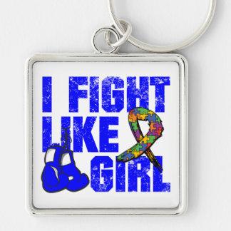 Lucha del autismo I como un chica Grunge Llavero Personalizado
