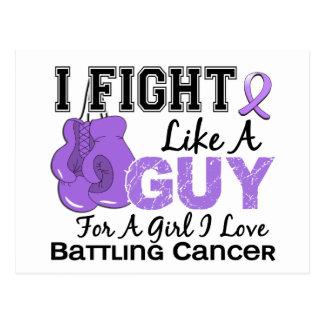 Lucha del cáncer como un individuo 15 postales