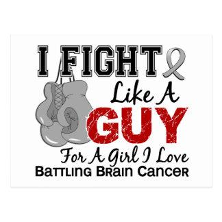 Lucha del cáncer de cerebro como un individuo 15 postales