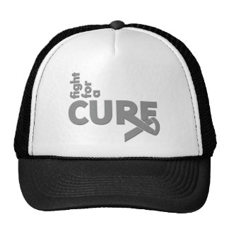 Lucha del cáncer de cerebro para una curación gorro de camionero