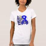 Lucha del cáncer de colon como un extremo del camiseta