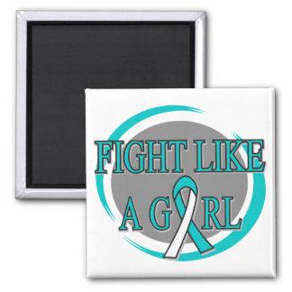 Lucha del cáncer de cuello del útero como una circ imanes de nevera
