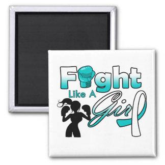 Lucha del cáncer de cuello del útero como una silu imán de frigorífico